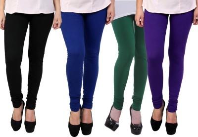 Dharamanjali Women's Black, Blue, Green, Purple Leggings