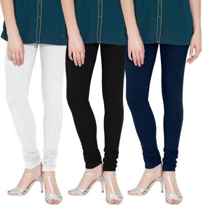 Nicewear Women's White, Black, Blue Leggings