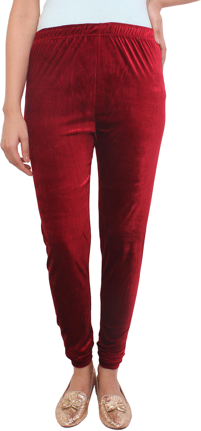White Feather Womens Maroon Leggings