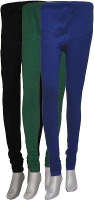La Vastraa Women's Black, Green, Blue Leggings