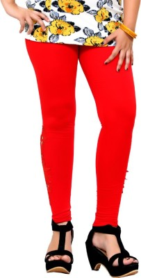 By The Way Women's Red Leggings