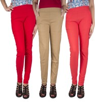 iHeart Women's Red, Beige, Pink Jeggings best price on Flipkart @ Rs. 999