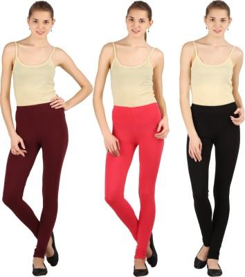 Silvio Women's Black, Pink, Brown Leggings