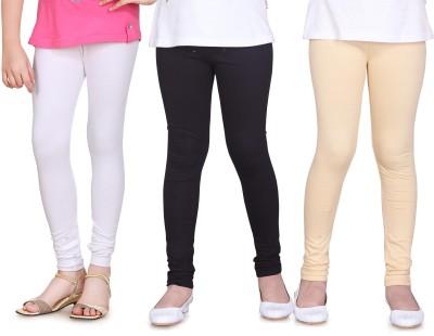 Sini Mini Girl's White, Black, Beige Leggings