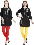 MDR Women's Red, Yellow Leggings (Pack o...