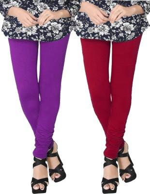 JV Wears Women's Purple, Red Leggings