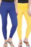 Bitterlime Women's Yellow, Blue Jeggings...