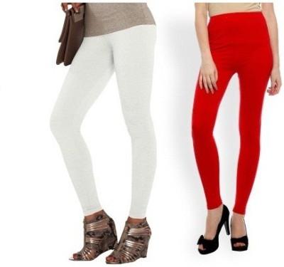 Edge Plus Women's Red, White Leggings
