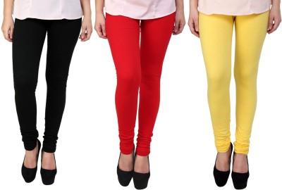Legemat Girl,s Black, Red, Yellow Leggings