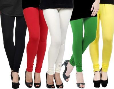 Kjaggs Women's Black, Red, White, Green, Yellow Leggings