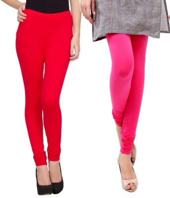 Sampoorna Collection Women's Red, Pink Leggings