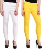 Magrace Women's Yellow, White Jeggings (...