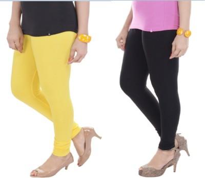 TEXVILLA Women's Yellow Leggings