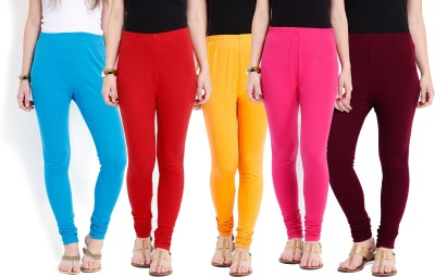 Ten on Ten Women's Blue, Red, Maroon, Pink, Yellow Leggings