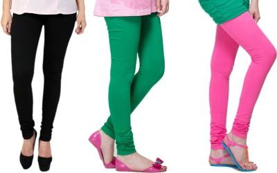 Lienz Women's Black, Green, Pink Leggings