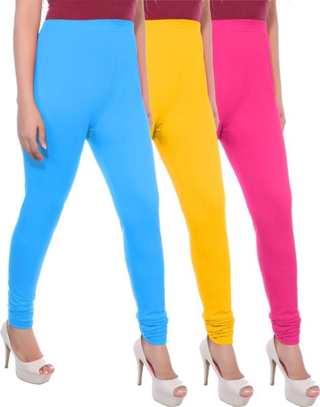 Apple Knitt Wear Women's Maternity Wear Blue, Yellow, Pink Leggings(Pack of 3)