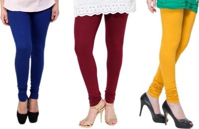 Lienz Women's Blue, Maroon, Yellow Leggings