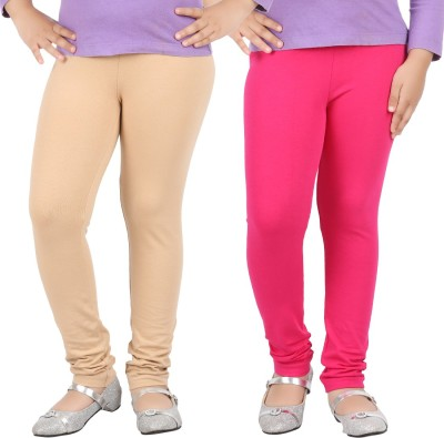 Avarnas Girl's Beige, Pink Leggings