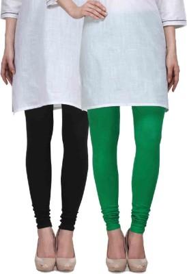 Desi Duos Women's Black, Green Leggings