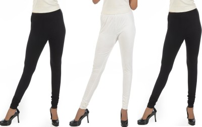 Crezyonline Women's Black, White, Black Leggings