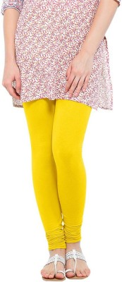 Dyed Colors Women's Yellow Leggings