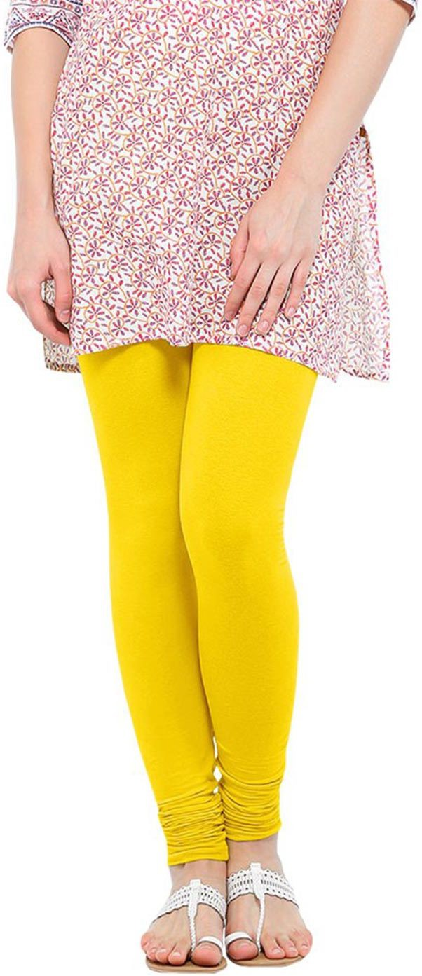 Linking Threads Womens Yellow Leggings