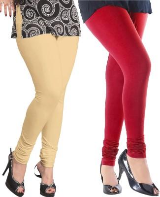 Baremoda Women's Beige, Red Leggings