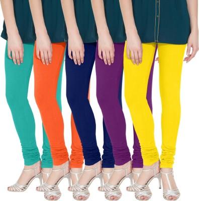 Nicewear Women's Light Blue, Orange, Blue, Purple, Yellow Leggings