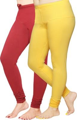 Pomelo Women's Yellow, Maroon Leggings