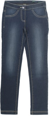 Coffee Bean Girl's Dark Blue Jeggings