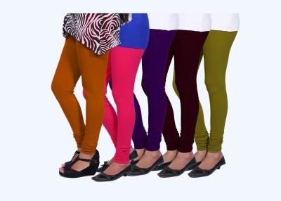 CHIGGY WIGGY Women,s Green, Purple, Orange, Maroon, Pink Leggings