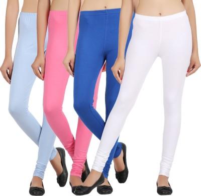 Sewn Women's Light Blue, Pink, Dark Blue, White Leggings
