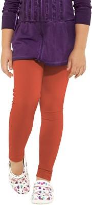 Go Colors Girl's Orange Leggings