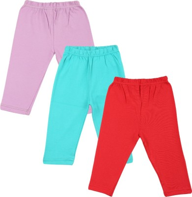 Color Fly Baby Girls Purple, Red, Green Leggings