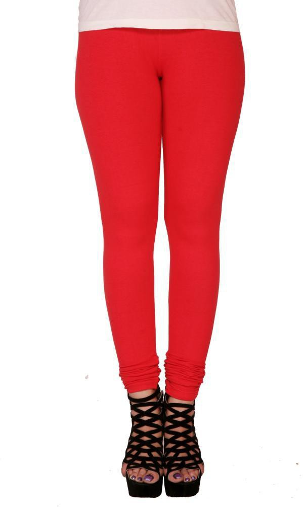 Suvasthra Weaves Womens Red Leggings