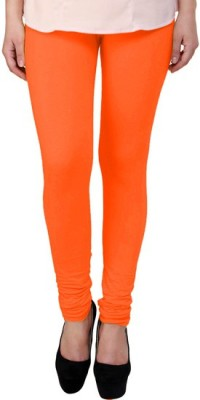 DEVYA FASHION Girl's Orange Leggings
