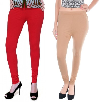 Colors More Women's Red, Beige Leggings