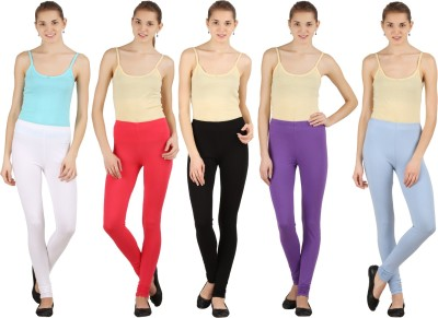 Silvio Women's Light Blue, Pink, White, Black, Purple Leggings