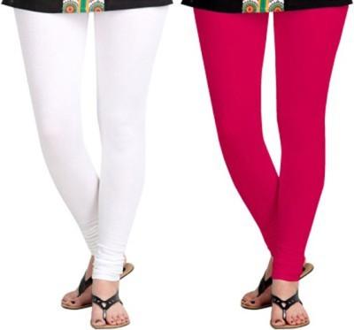 shivam Garments Women's White, Maroon Leggings