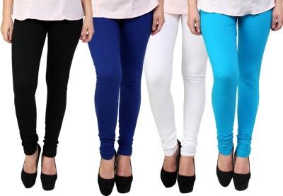 Dharamanjali Women's Black, Blue, Light Blue, White Leggings