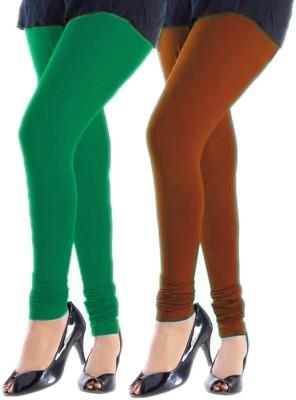 Trusha Dresses Women's Green, Orange Leggings