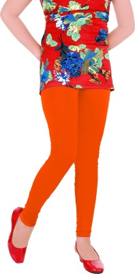 Yellow Dots Girl's Orange Leggings