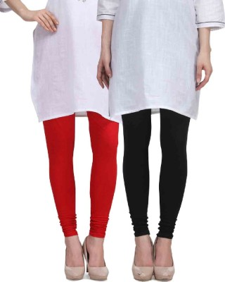 Desi Duos Women's Red, Black Leggings