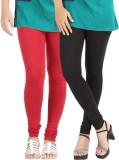 Be-Style Women's Maroon, Black Leggings ...