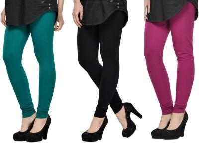 SareeGalaxy Women's Dark Blue, Black, Purple Leggings