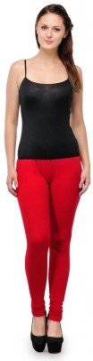Oleva Women's Red Leggings at flipkart