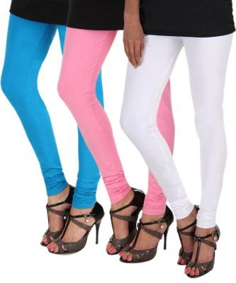 Itnol International Women's Light Blue, Pink, White Leggings