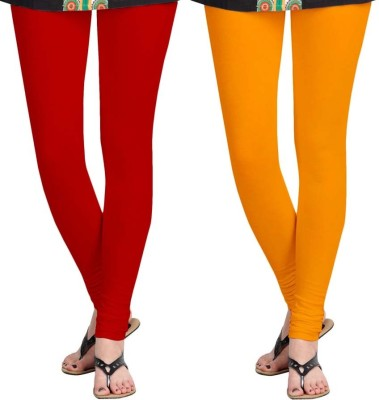 Roshni Creations Women,s Red, Orange Leggings