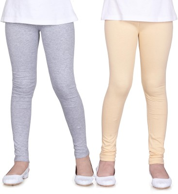 Sini Mini Girl's Grey, Beige Leggings