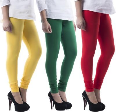 Prashil Women's Yellow, Green, Red Leggings